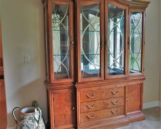 Thomasville china cabinet (with dining table and chairs)