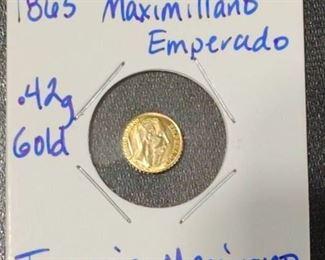 1865 Maximillano Emperado MINI Gold Coin