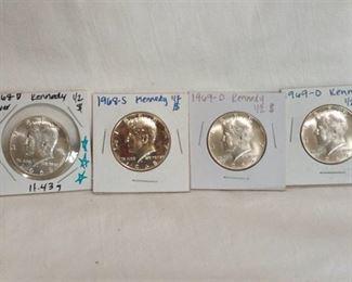1968 and 1969 Kennedy half dollars