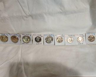 1976, 1977, 1978 Kennedy Half Dollars