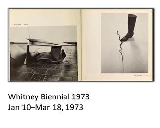 Michael Steiner, American, b 1945, Betonica, 1971. Provenance: Whitney Biennial, 1973, Museum of Fine Arts Boston, 1974.