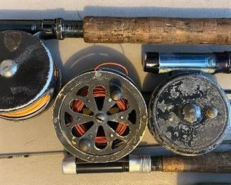 Fly reels and rods