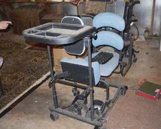 Medical rehabilitation standing device