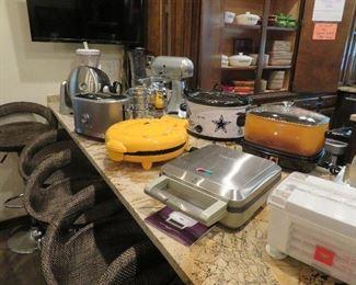 Small appliances - KitchenAid mixer, Dallas Cowboys crock pot