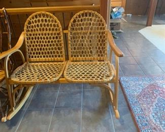 Double Wood and Cain Rocker