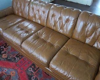 Leather Sofa - Mid Century Modern