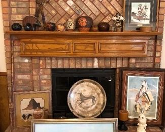 Assorted Native American art and pottery pieces, all in excellent vintage condition. Many signed or stamped as well.
