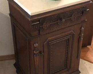 Antique marble top small table