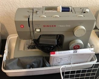 Singer Heavy Duty sewing machine with box and original manual