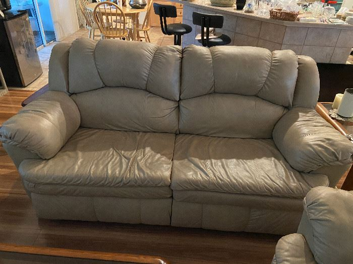Lane Leather couch and loveseat reclining
