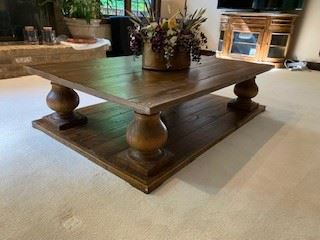 This stunning coffee table would be a wonderful addition to your home!