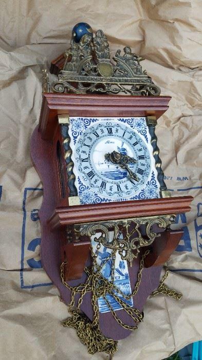 Delft Wall clock