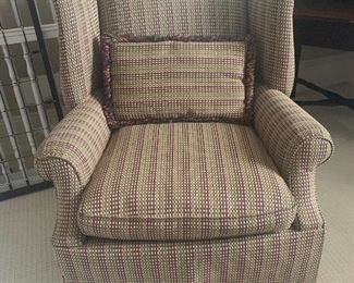 Oversized Skirted Wingback Chair by Conover Chair Company