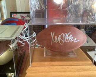 Autographed Marcus Allen football