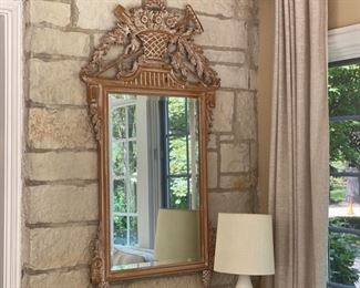 """Lot#61 Was $475.00 Now $357.00                                   Italian carved pine mirror     57""""h x 33""""w"""