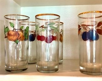 SETS OF HAND PAINTED GLASSES