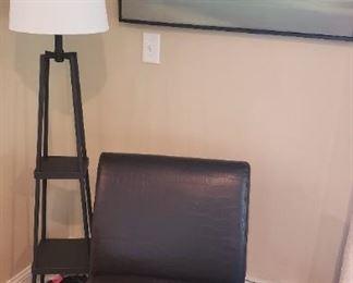 Side Chair, Floor Lamp, Art
