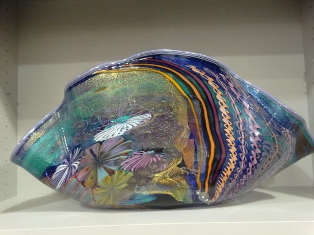 Clam Shaped Glass Bowl - James Nowak