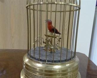 Vintage German Singing Bird Cage Music Box
