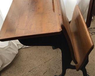 Two antique school desks available.