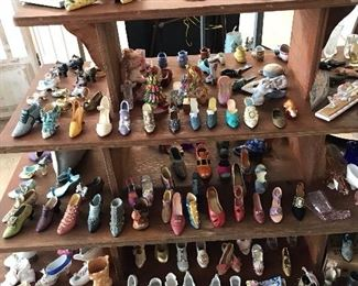 Miniature  shoe collection and many shoe themed items.