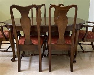 Ethan Allen Dining Room 4 Side Chairs + 2 Arm Chairs