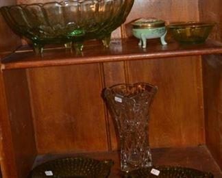 Vaseline glass and decor