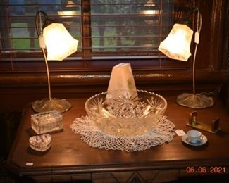 Cut glass - lamps- crystal
