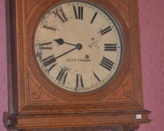 Antique Seth Thomas wall clock- working condition