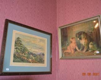 Vintage wall art
