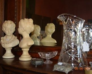Vintage cut glass and decor