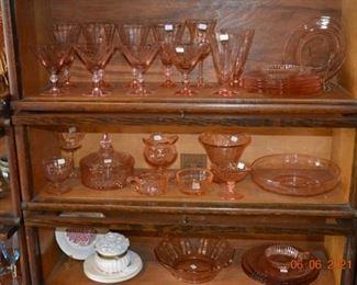 Pink Depression glass- glassware-