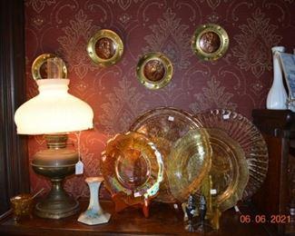 Amber Glass- carnival glass