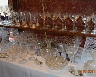 Vintage crystal and glassware