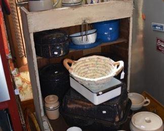 Vintage enamelware- Marshall Pottey- Antique T and P Caboose Desk