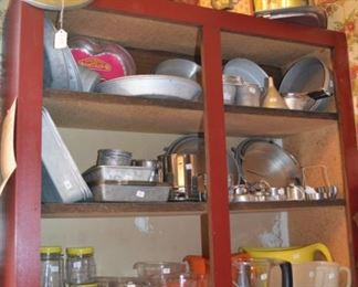 Vintage bake ware and baking goods