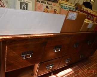 Antique Seed Cabinet