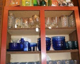 Vintage blue glassware- glassware