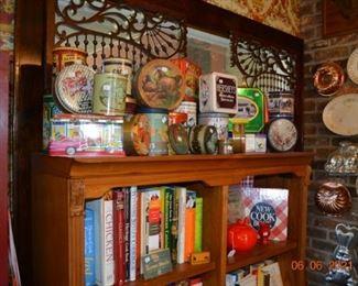 Vintage tins- cook books
