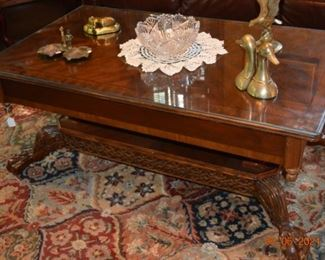 Nice claw foot coffee  table