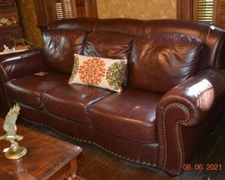 Nice leather couch