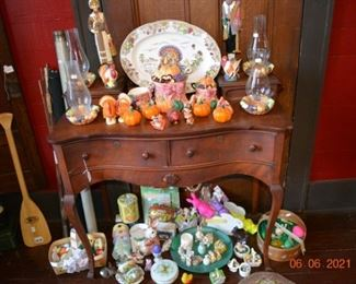 Thanksgiving and Easter decor- antique vanity