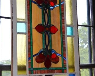 Large antique stained glass