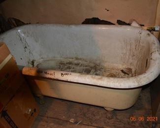 Antique claw foot bathtub