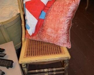 Vintage cane bottom chair