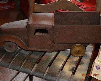 Antique metal truck