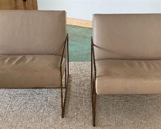 Restoration Hardware Leather Chairs