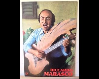 This is a one of a kind poster taken off a wall in Florence  in 1979. The artist is still performing in Italy $45