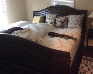 king size bed.   Very unique