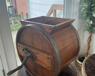 Antique Wood Butter Churn